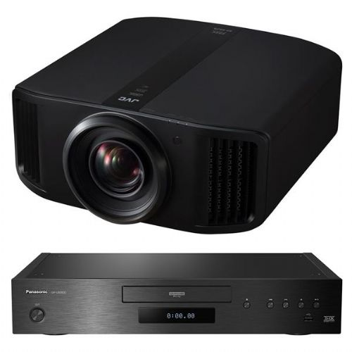 JVC DLA-NX9 8K Projector + Panasonic DP-UB9000 UHD Blu-Ray Player